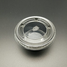 transparent round plastic lid for sauce cup